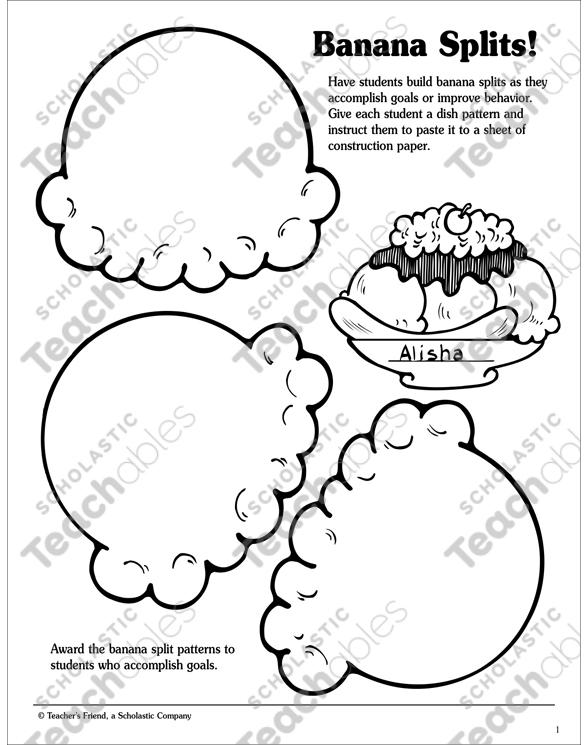 banana splits! printable awards, incentives and skills sheets Aggregate Fruit Diagram see inside image