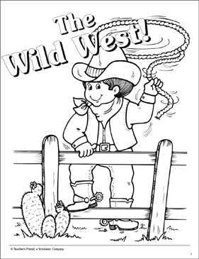 The Wild West Printable Coloring Pages