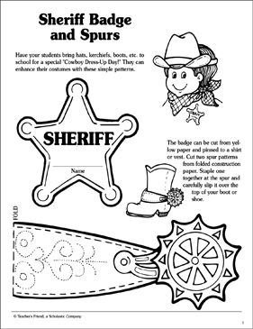 photo regarding Spurs Schedule Printable called Sheriff Badge And Spurs Printable Arts, Crafts and Competencies