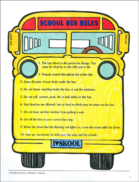 image about School Bus Printable titled Faculty Bus Legal guidelines! Printable Clroom Manage, Trainer