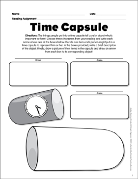 photo regarding Time Capsule Printable called Season Capsule: Studying Reply Impression Organizer Printable