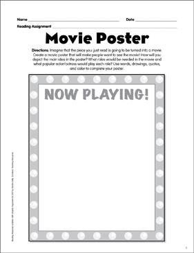 picture regarding Printable Movie Poster identify Video Poster: Looking at Solution Picture Organizer Printable