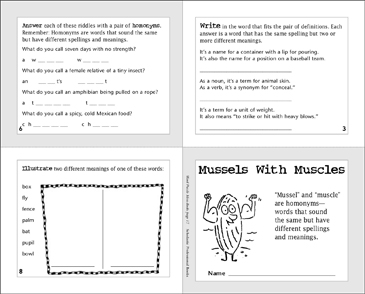 Mussels With Muscles - Printable Worksheet