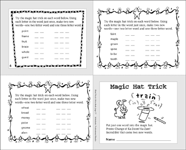 Magic Hat Trick - Printable Worksheet
