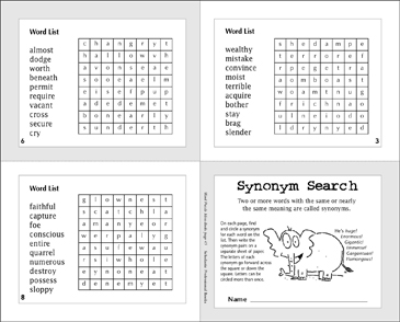 Synonym Search - Printable Worksheet