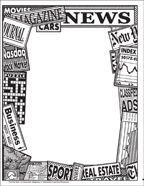 Newspapers: Stationery (With or Without Lines) - Printable Worksheet