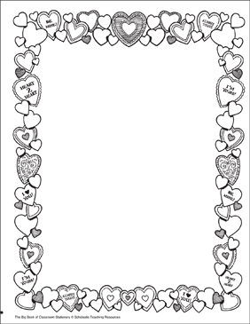 Valentines: Stationery (With or Without Lines) - Printable Worksheet