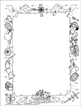 Explorers: Stationery (With or Without Lines) - Printable Worksheet