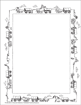Pioneers: Stationery (With or Without Lines) - Printable Worksheet