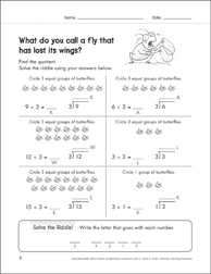 Solve-the-Riddle 32 (Division) - Printable Worksheet