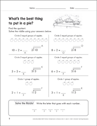Solve-the-Riddle 34 (Division) - Printable Worksheet