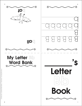 Letter Bb Book - Printable Worksheet