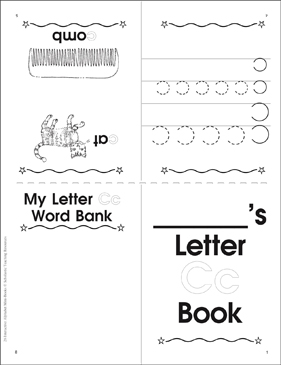 The Letter Cc: Interactive Alphabet Mini-Book - Printable Worksheet