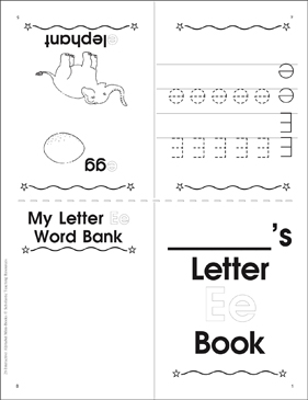 Letter Ee Book - Printable Worksheet