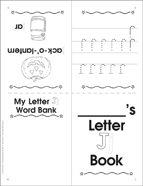 The Letter Jj: Interactive Alphabet Mini-Book - Printable Worksheet
