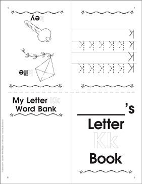 Letter Kk Book - Printable Worksheet
