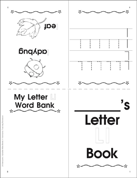 The Letter Ll: Interactive Alphabet Mini-Book - Printable Worksheet