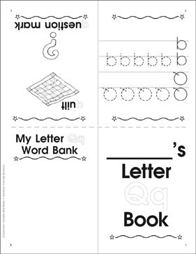 The Letter Qq: Interactive Alphabet Mini-Book - Printable Worksheet