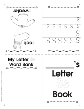 letter ss book printable mini books. Black Bedroom Furniture Sets. Home Design Ideas