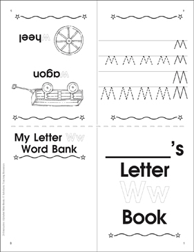 Letter Ww Book - Printable Worksheet