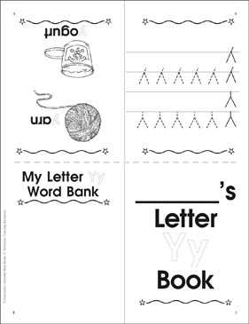 The Letter Yy: Interactive Alphabet Mini-Book - Printable Worksheet