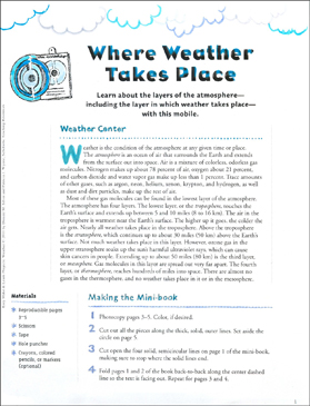 Where Weather Takes Place: Make & Learn Project - Printable Worksheet