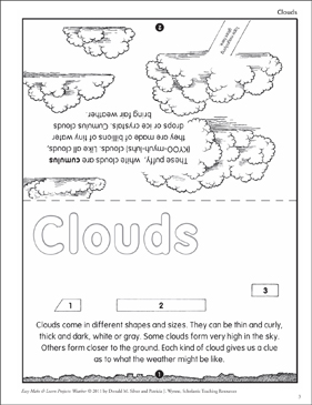Clouds: Make & Learn Project - Printable Worksheet