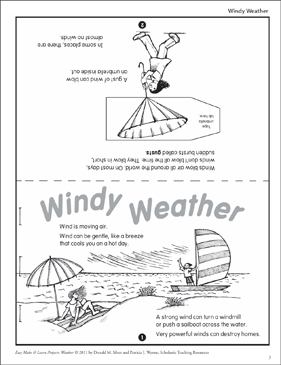Windy Weather: Make & Learn Project - Printable Worksheet