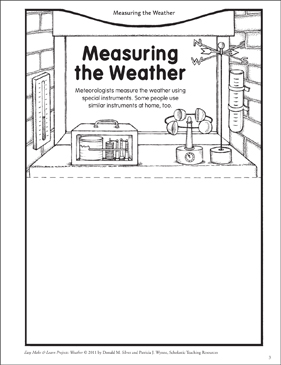 Measuring the Weather: Make & Learn Project - Printable Worksheet