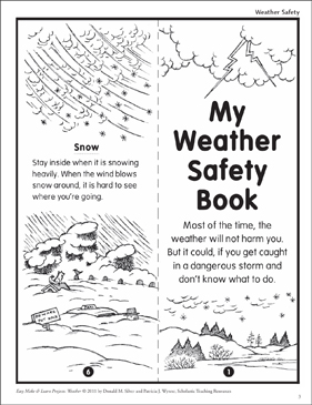 Weather Safety: Make & Learn Project - Printable Worksheet