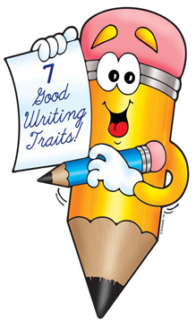 7 Good Writing Traits Pencil - Image Clip Art