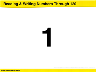 Reading & Writing Numbers Through 120: Math Lesson - Printable Worksheet
