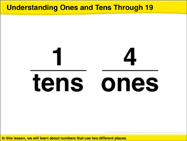 Understanding Ones and Tens Through 19: Math Lesson - Printable Worksheet
