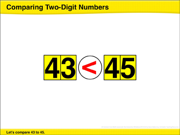 Comparing Two-Digit Numbers: Math Lesson - Printable Worksheet