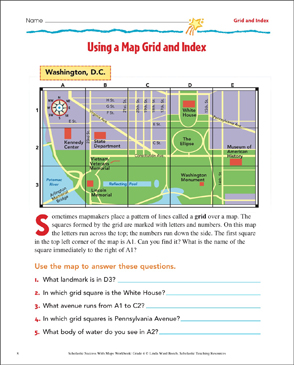 Using A Map Grid And Index Map Skills Printable Maps