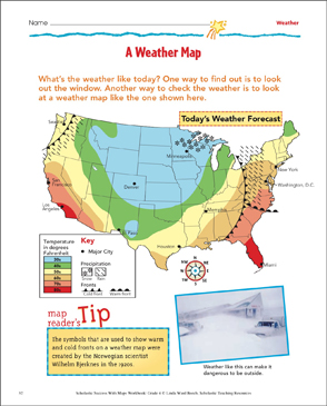 Using a map scale map skills printable maps and skills sheets a weather map map skills gumiabroncs Image collections