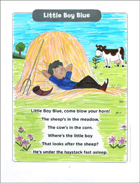 Little Boy Blue: StoryTime STEM Nursery Rhyme - Printable Worksheet