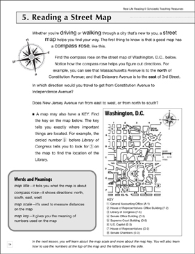 Reading a Street Map: Life Skills - Printable Worksheet