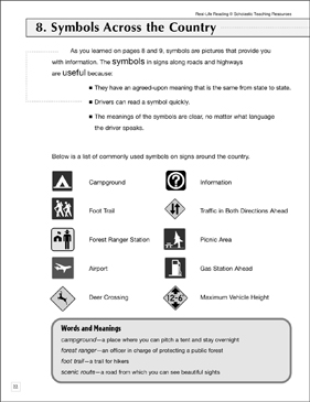 Symbols Across the Country: Life Skills - Printable Worksheet