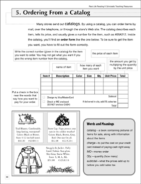 Ordering From a Catalog: Life Skills - Printable Worksheet