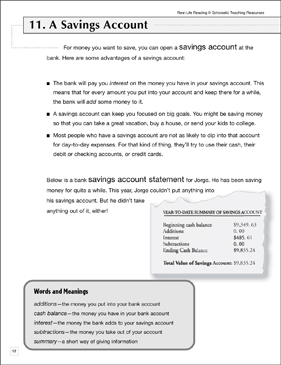 Open a Savings Account: Life Skills - Printable Worksheet