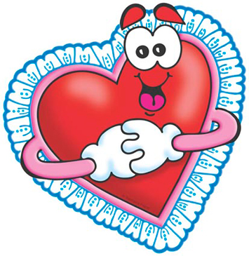 Valentine Heart (Red With Lace) - Image Clip Art