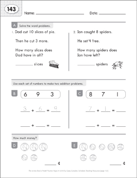 Math Practice Page: 143 (Grades 1-2) - Printable Worksheet