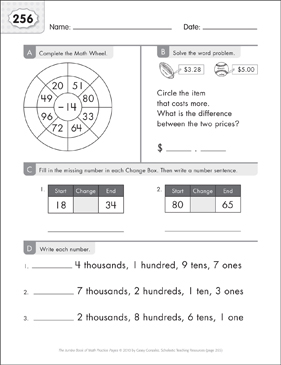 Math Practice Page: 256 (Grades 1-2) - Printable Worksheet
