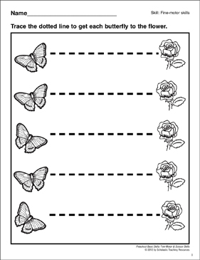 photo about Tracing Lines Worksheets Printable named Tracing Horizontal Strains: Preschool Simple Capabilities (Wonderful Engine