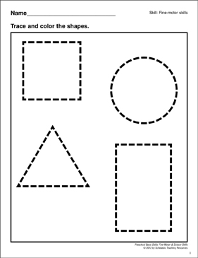 photograph regarding Printable Shapes for Preschoolers referred to as Tracing Designs: Preschool Easy Techniques (Great Engine