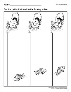 Cutting Vertical lines: Preschool Basic Skills (Scissor ...
