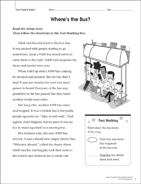 Where's the Bus? Close Reading Passage - Printable Worksheet
