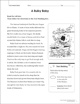 A Bulky Baby: Close Reading Passage - Printable Worksheet