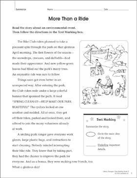 More Than a Ride: Close Reading Passage - Printable Worksheet